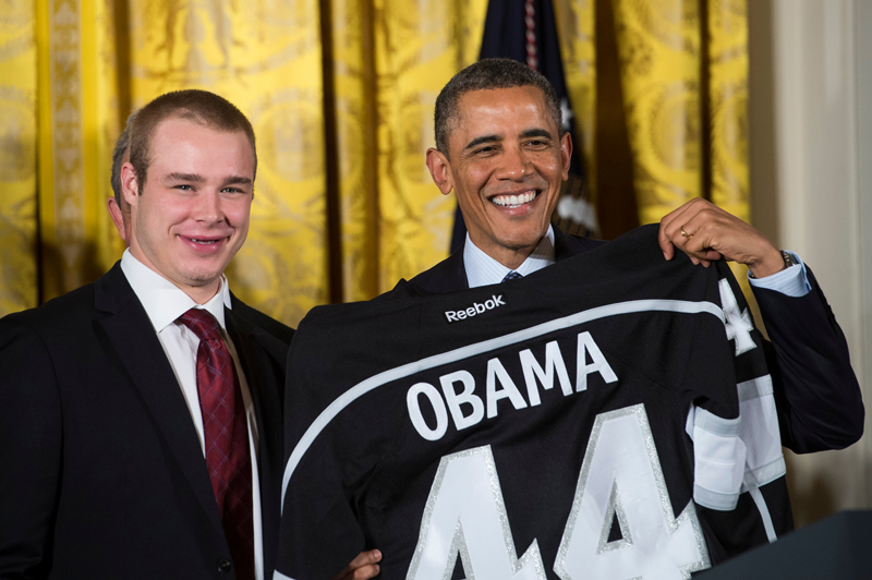 L.A. Kings & L.A. Galaxy visit the White House and President Barack Obama