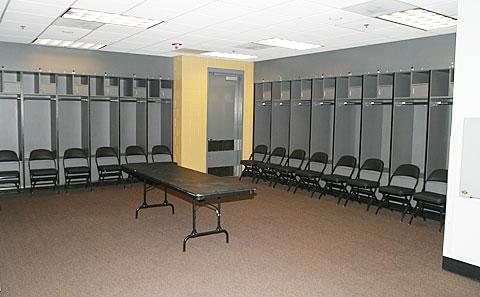 NBA visiting locker room