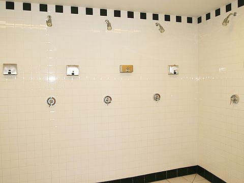 NBA visiting showers