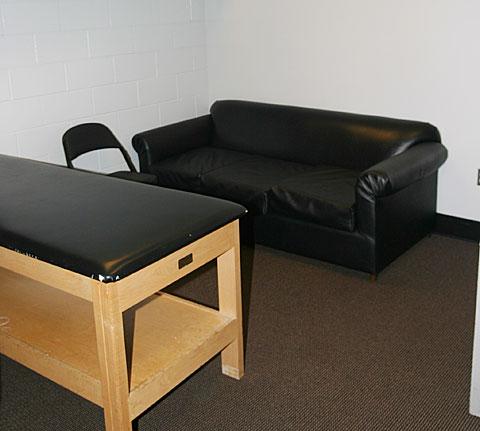 NHL training room