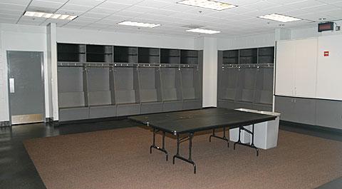 NHL visiting locket room