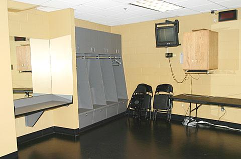 lockers in official's locker room