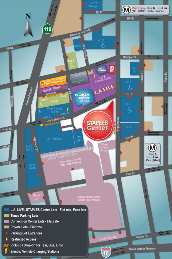 STAPLES Center Parking Lot Map