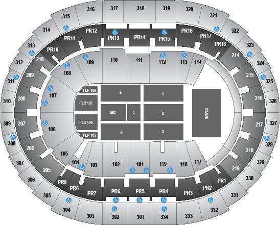 staples concert seating chart: End staples center